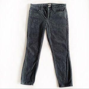 J. Crew Toothpick Grey Corduroy Jeans Size 31